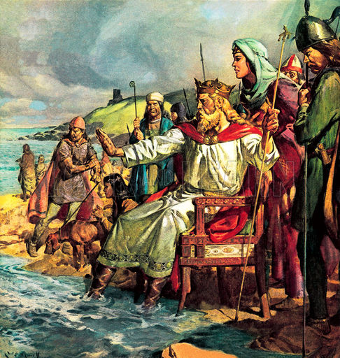 Chris Christie as King Canute, when the next hurricane hits